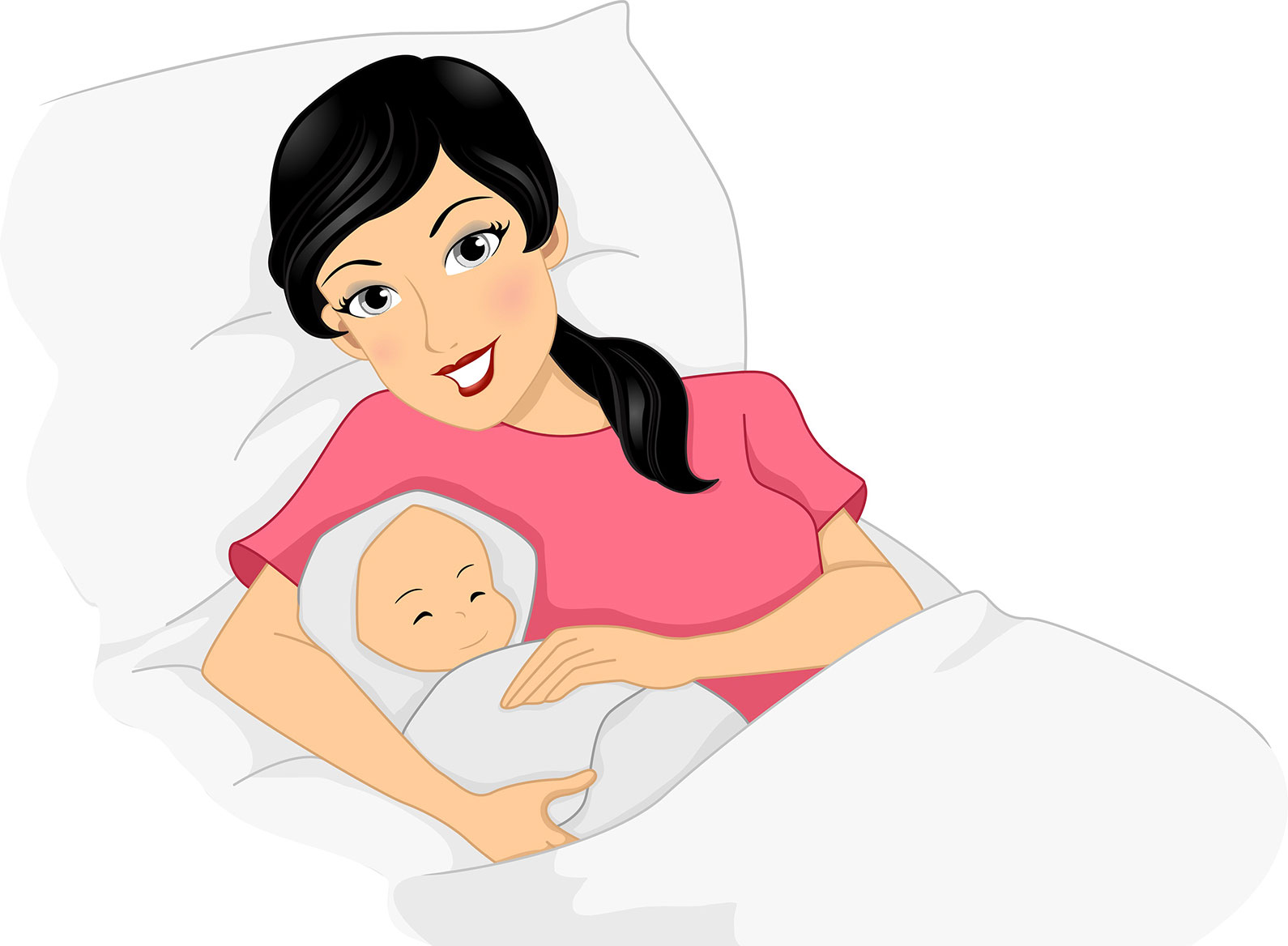 Women with a new born baby
